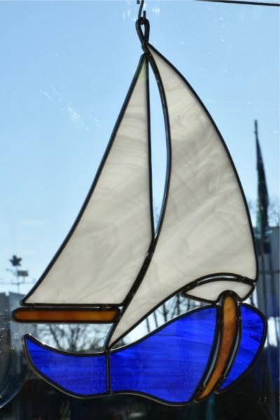 Segelboot blau
